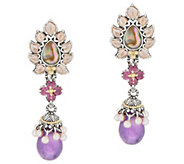 Barbara Bixby Sterling & 18K Gold Abalone Doublet Drop Earrings - J358037