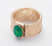 Italian Gold Gemstone Mesh Ring, 14K Gold - J360137