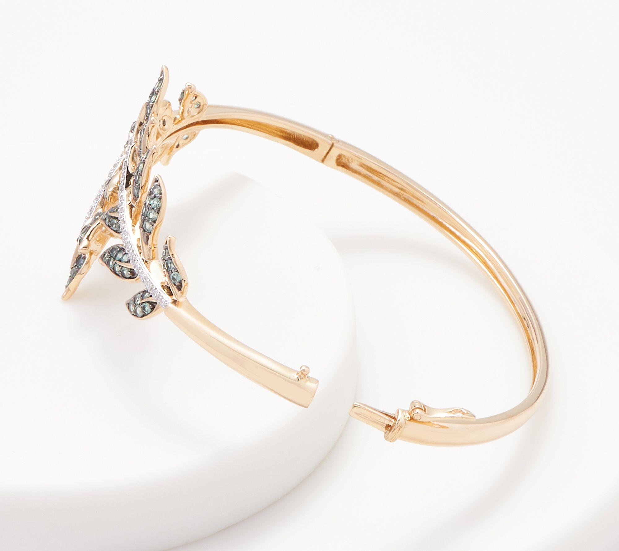 9.2 Stainless Steel Gold Color Plated Engraved Star Cross Round Bangle D Length