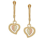 Black Hills Heart Dangle Earrings, 10K/12K Gold - J383937