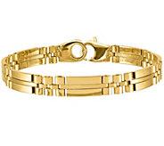 Italian Gold 14K Polished & Satin Status Link Bracelet, 15.6g - J384937