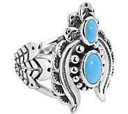 American West Sterling Sleeping Beauty Turquoise Naja Ring - J385237
