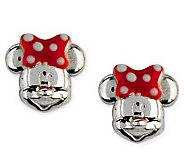 Disney Sterling Silver Mickey or Minnie Mouse Stud Earrings - J112538