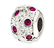 Prerogatives Sterling Spotted Fuchsia Crystal Bead - J113238