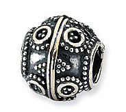 Prerogatives Sterling Circle & Diamond Shapes Artisan Bead - J113338