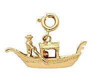 14K Yellow Gold Gondola Charm - J298438