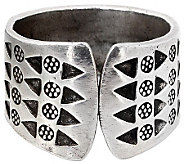 Novica Artisan Crafted Sterling Tribal Wildflowers Ring - J310038
