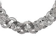 Stainless Steel 19 Interlocking Wire Circle Necklace - J311238