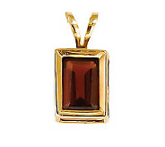Emerald-cut Gemstone Pendant with 18 Chain, 14 K Gold - J311838