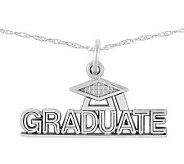 Polished Graduate Pendant w/ 18 Chain, 14K - J313038