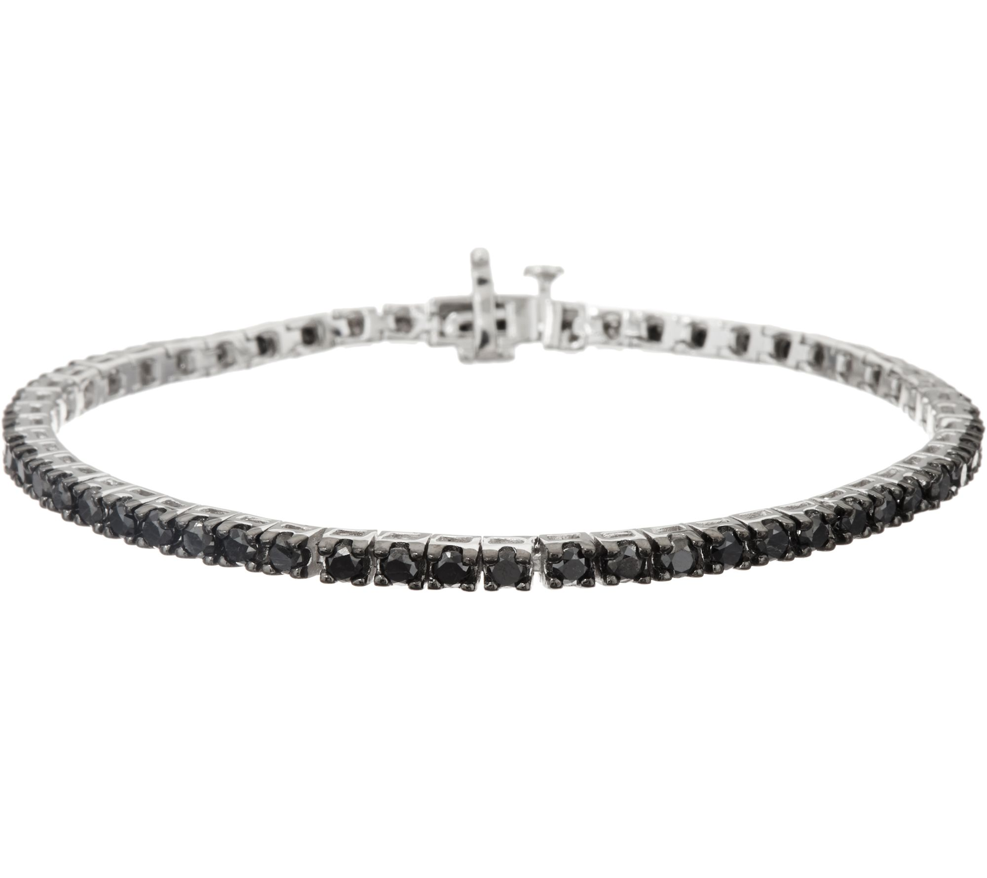 Black Diamond 8 Tennis Bracelet Sterling By Affinity Page 1 Qvc