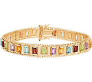 Imperial Gold 8 Multi-Gemstone Lame Bracelet, 14K, 28.8g - J349338