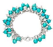 As Is Honora Cultured Pearl 8 Sterling Bead Charm Bracelet - J350538