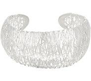 UltraFine Silver Small Bold Wire Wrapped Cuff, 23.0g - J354338