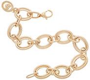 Judith Ripka Verona 14K Gold 8 Oval Link Bracelet 10.4g - J356738