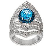 As Is Judith Ripka Sterling Blue Topaz 2.15 cttw Ring - J358438