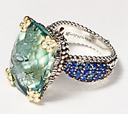 Barbara Bixby Sterling Silver & 18K Gold Gemstone Ring, 14.50 cttw - J359238