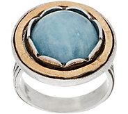 Or Paz Sterling Silver Two-Tone Gemstone Ring - J360138