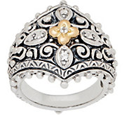 Barbara Bixby Sterling Silver 18K Gold Floral Ring - J360238