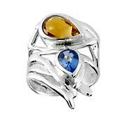 Hagit Sterling Blue Topaz & Citrine Ring - J379038