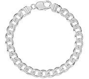 Italian Silver Diamond-Cut Curb Link Bracelet,31.1g - J379838
