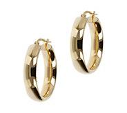 Veronese 18K Clad 1 Round Hoop Earrings - J390838