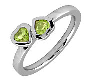 Simply Stacks Sterling & Peridot Double-Heart Ring - J299339