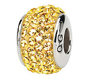 Prerogatives Sterling Gold Full Swarovski Crystal Bead - J299639