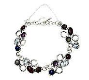 Or Paz Sterling Roman Glass & Gemstone Bracelet - J306739