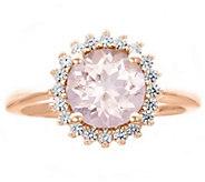 Premier 1.50cttw Round Morganite & Diamond Ring, 14K - J338239