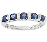 Five Gemstone Band Ring, 14K White Gold - J342239