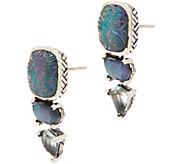 Stephen Dweck Sterling Silver Triple Drop Earrings - J355039