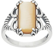 Carolyn Pollack Positano Mother of Pearl Sterling Silver Ring - J355539
