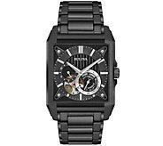 Bulova Mens Automatic Black IP Watch - J375139