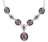 Carolyn Pollack Color Connections Bold GemstoneNecklace - J384039