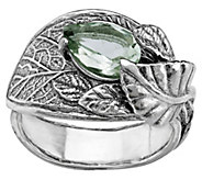 Or Paz Sterling Silver 1.65 cttw Gemstone LeafRing - J384839