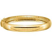Italian Gold 14K 8mm Omega Bracelet, 18.5g - J384939