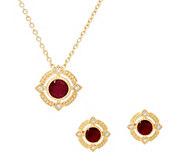 Judith Ripka 14K Gold Gemstone Necklace or Earrings - J59039