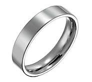 Forza Mens 5mm Steel Flat Polished Ring - J109540