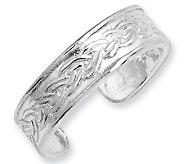 Sterling Braided-Design Toe Ring - J111440