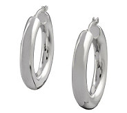 UltraFine Silver 1-1/8 Polished Round Hoop Earrings - J113940