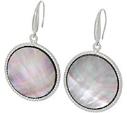 Honora Black Mother-of-Pearl Round Drop Earrings, Sterling - J348540