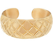 Italian Silver Bold Quilted Cuff Bracelet, Sterling 28.0g - J349340