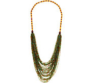 Joan Rivers Shimmering Layered Seed Bead 31 Necklace - J349740