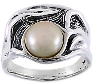 Hagit Sterling Silver Cultured Freshwater PearlRing - J377140