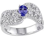 0.40 ct Tanzanite & 7/10 cttw Diamond Ring, 14K - J377740