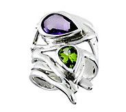 Hagit Sterling Amethyst & Peridot Ring - J379040