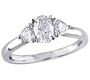 Affinity 14K Gold 9/10 cttw Oval Diamond 3-Stone Ring - J381340