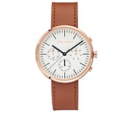 Vince Camuto Mens Multi-Function Tan Leather Strap Watch - J383440