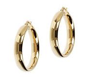 Veronese 18K Clad 1-1/4 Round Hoop Earrings - J390840